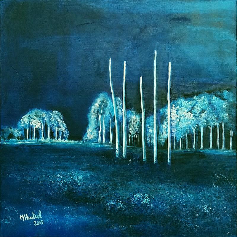 Dans la région de Gatchina, peinture de Marie Hurtrel