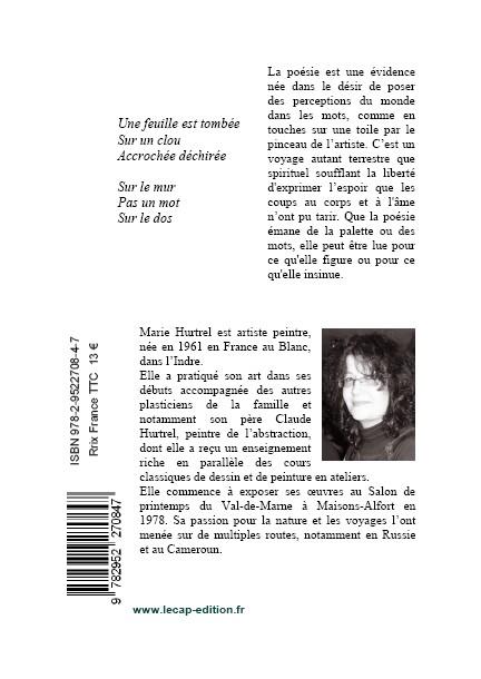 Lézards de poussière, Marie Hurtrel