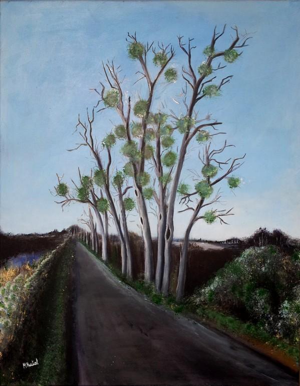Route de Pellebuzan - peinture 90 x 70 cm