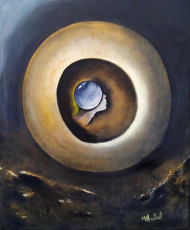 Première pierre après la fin du monde - tableau de Marie Hurtrel