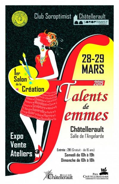 Salon de la Création TALENTS de FEMMES, Châtellerault 2015