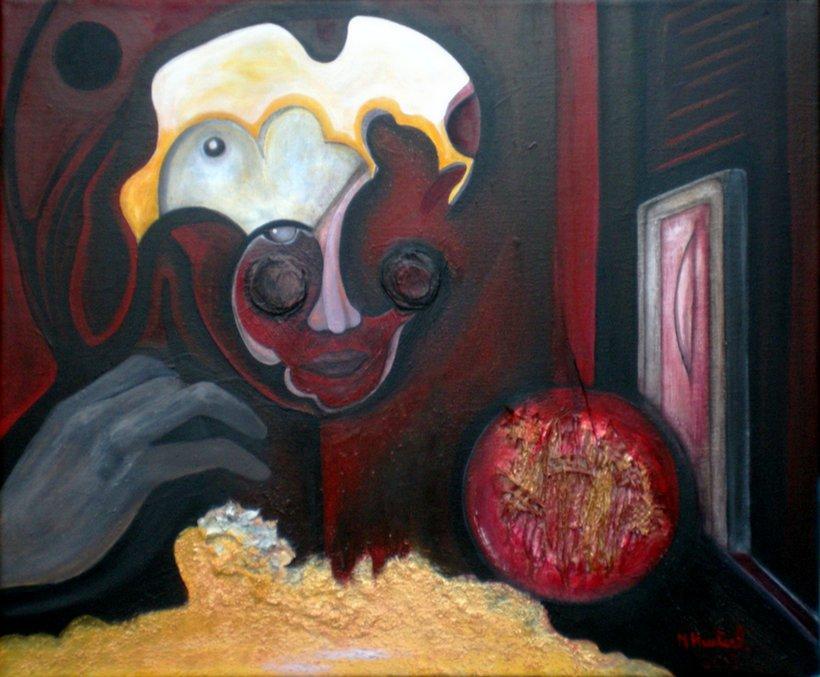 Temps, peinture de Marie Hurtrel