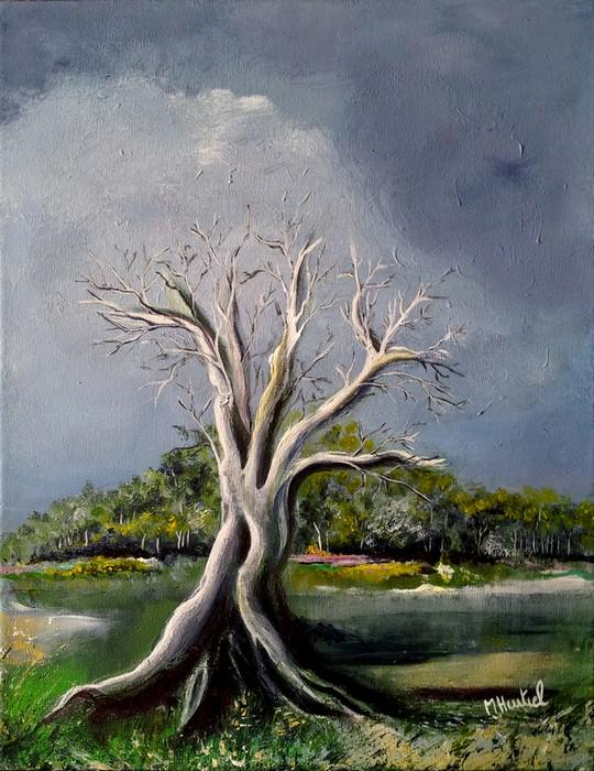 Temps - peinture 35 x 27 cm