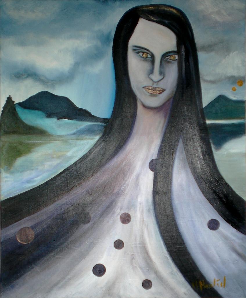Tentative de survie, peinture de Marie Hurtrel